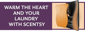 Warm the heart and your laundry with Scentsy.