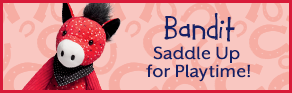 Bandit the Horse Scentsy Buddy. Saddle up for playtime!