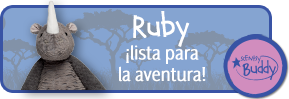 Ruby the Rhino. Ready for an adventure. Rhinocerous Scentsy Buddy.