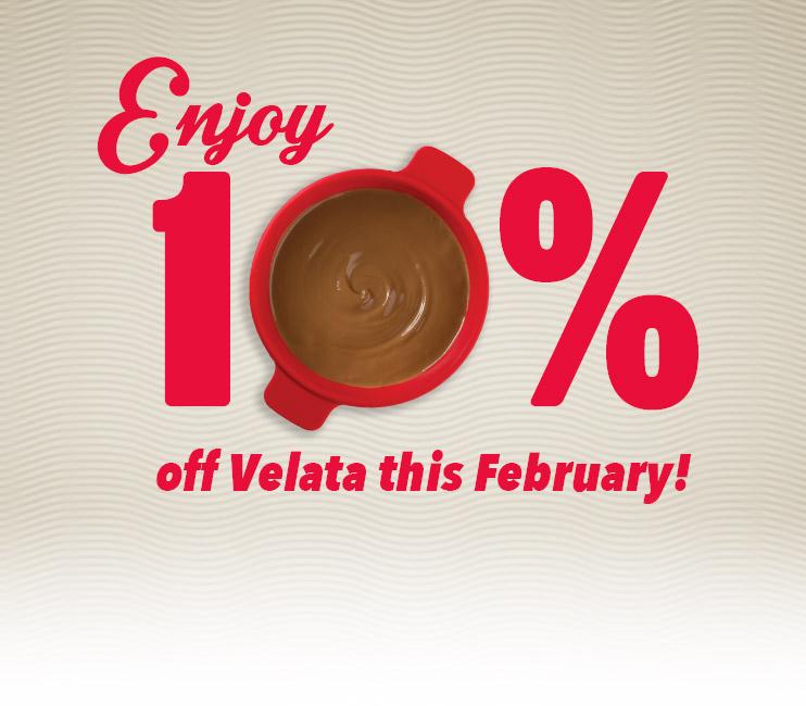 Enjoy 10% off Velata this February!