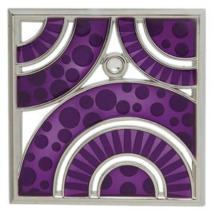 Brillaince gallery frame - purple vivid swirls with diamond inlay