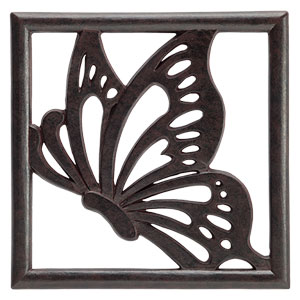 Scentsy Butterfly Monarch Gallery Frame Plate Brown