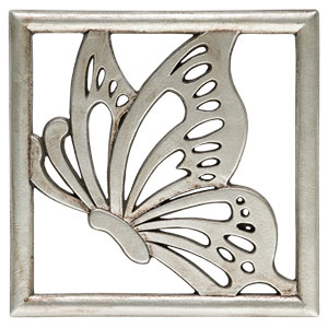 Scentsy Butterfly Monarch Gallery Frame Plate Silver