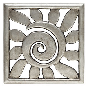 Scentsy Sun rays sunshine Gallery Frame Plate Silver