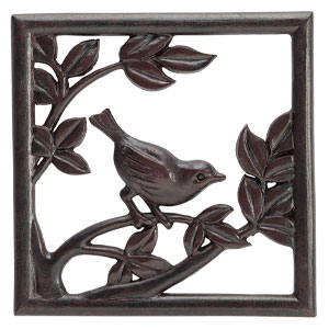 Scentsy bird wren gallery frame plate brown