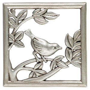 Scentsy bird wren gallery frame plate Silver