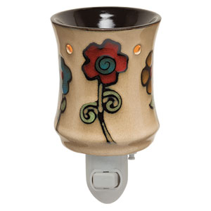 Flowers painted plug-in Scentsy Warmer