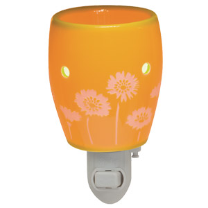 Orange daisies plugin Scentsy Warmer