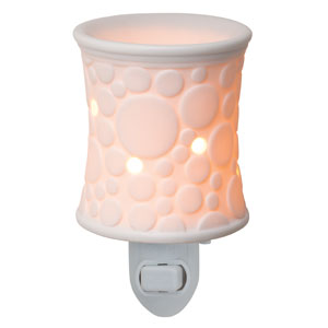 White circles Fizz Scentsy Plugin Warmer