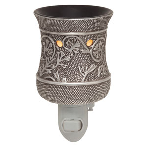 Metal silver Scentsy Plugin Warmer silvervine