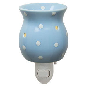 Blue polkadot Plug-in Scentsy Warmer