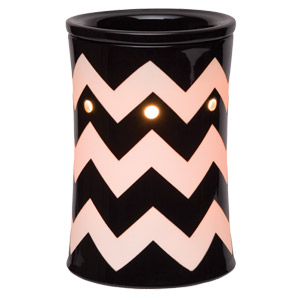 Chevron Black Scentsy Warmer PREMIUM