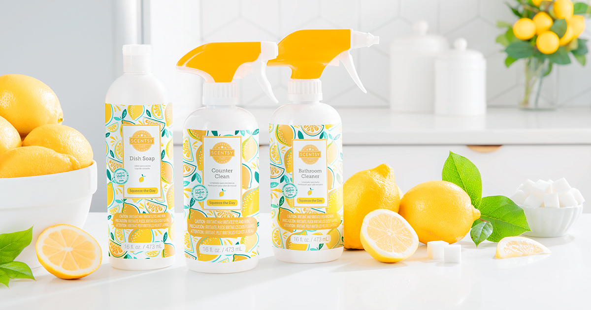 SQUEEZE THE DAY new Scentsy Bathroom Cleaner
