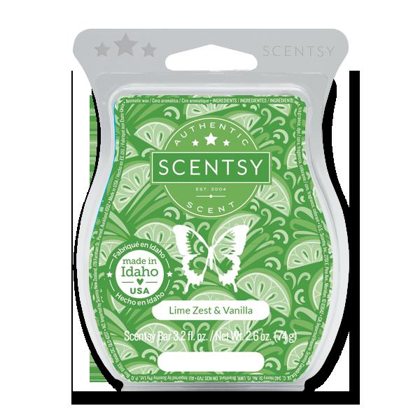 Lime Zest & Vanilla Scentsy Bar